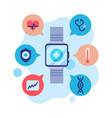 smartwatch app modern technology health vector image vector image