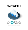 Snowfall icon in different style vector image vector image