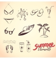 Summer elements for your design vector image vector image