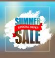 Summer sale badge label promo banner template