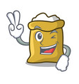 two finger flour character cartoon style vector image