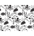 Underwater sealife animal monochrome seamless vector image