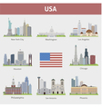 USA set vector image vector image