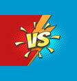 versus sign with lightning background drawn vector image