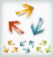 vintage arrows icons loops vector image