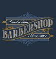 vintage logo for barbershop vector image vector image