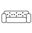 sofa icon vector image