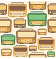 Retro Radio Background Pattern vector image