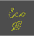 eco green icon hand drawn elements for your vector image