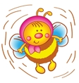Little bee in a scarf on a white background vector image
