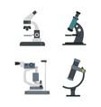 microscope icon set flat style vector image