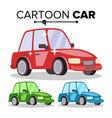 cartoon car reg green blue flat style vector image