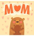 Greeting card for the bear mother and cub vector image