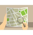 Search on map vector image