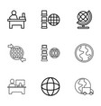 9 around icons vector image vector image