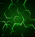 Abstract background with green hexagon vector image vector image