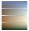Abstract unfocused natural headers set blurred vector image