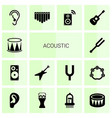 acoustic icons vector image vector image