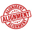 alignment red grunge stamp vector image vector image