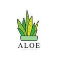 aloe vera logo design natural and organic vector image