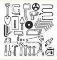 Architecture and construction tool icons set vector image vector image