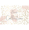 autumn collection gold blush background trendy vector image
