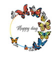 background with butterflies placard or poster vector image vector image