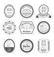 Barber Shop Emblems vector image vector image