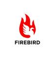bird flame logo template vector image vector image