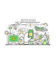 bitcoin concept modern thin line flat vector image vector image