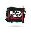 black friday sale inscription on abstract ink vector image