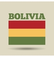 bolivia country flag vector image vector image