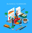 business teamwork isometric concept vector image vector image