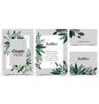 card with branches and leaf vector image vector image