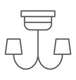 chandelier thin line icon furniture and home vector image vector image