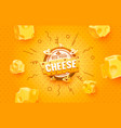 cheese label eco food poster banner menu product vector image vector image