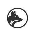 circle wolf logo design concept vector image