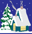 color image of santa claus house vector image vector image