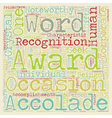 Corporate awards 101 text background wordcloud vector image vector image