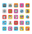 digital and internet marketing icons set 5 vector image vector image