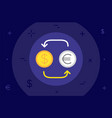 dollar to euro currency exchange business or vector image