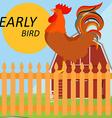 Early bird concept vector image vector image
