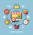 ecommerce colored composition vector image vector image