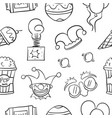 element circus hand draw pattern vector image vector image
