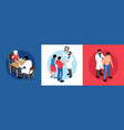 family doctor design concept vector image vector image