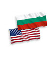 flags of bulgaria and america on a white vector image vector image