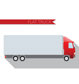 flat design city transportation truck vector image vector image