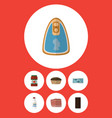 flat icon food set of canned chicken bottle vector image vector image