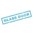 Glass Door Rubber Stamp vector image vector image