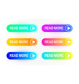 gradient buttons set isolated on white background vector image